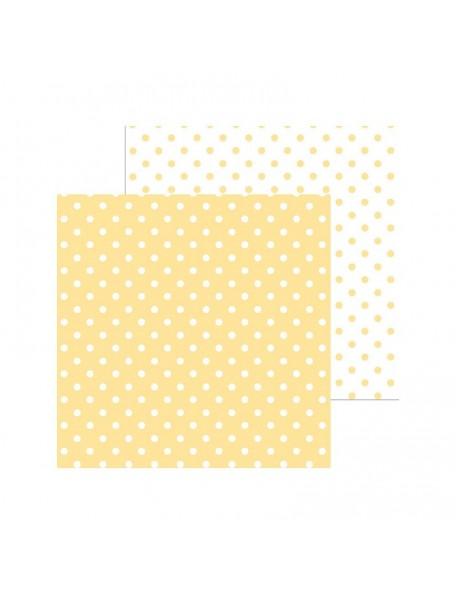 "Doodlebug Petite Swiss Dot Cardstock de doble cara 12""X12"", Lemon"