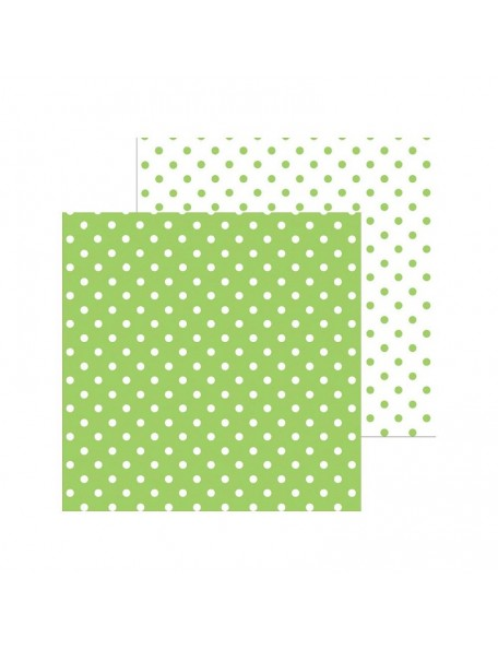 "Doodlebug Petite Swiss Dot Cardstock de doble cara 12""X12"", Limeade"