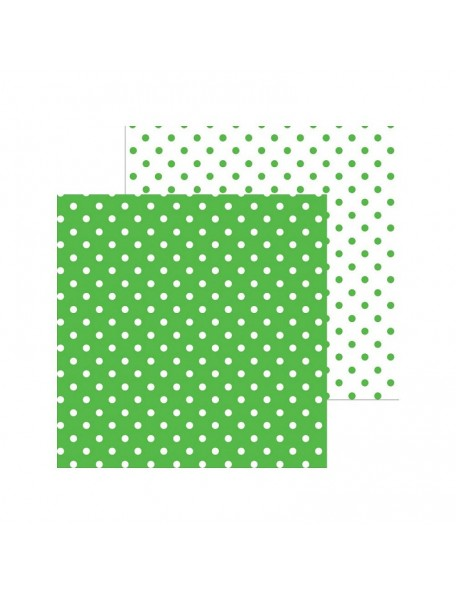 "Doodlebug Petite Swiss Dot Cardstock de doble cara 12""X12"", Grasshopper"