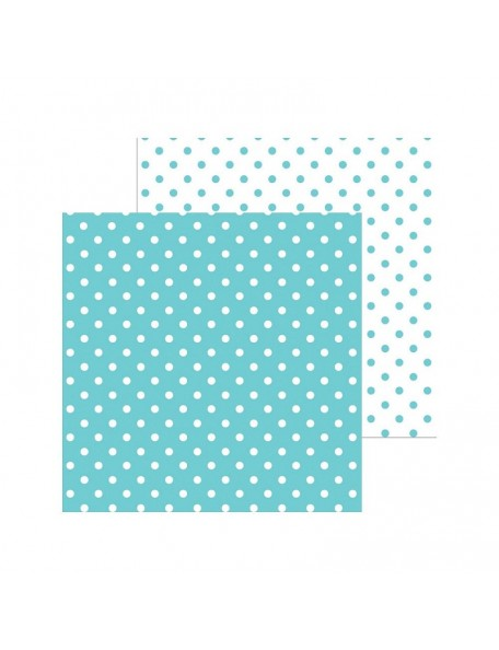 "Doodlebug Petite Swiss Dot Cardstock de doble cara 12""X12"", Swimming Pool"