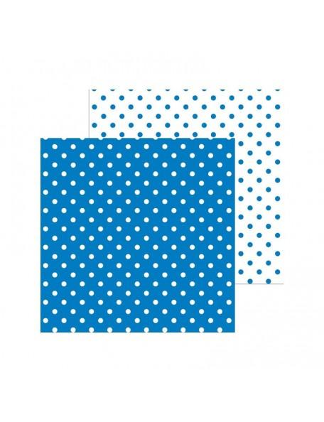 "Doodlebug Petite Swiss Dot Cardstock de doble cara 12""X12"", Blue Jean"