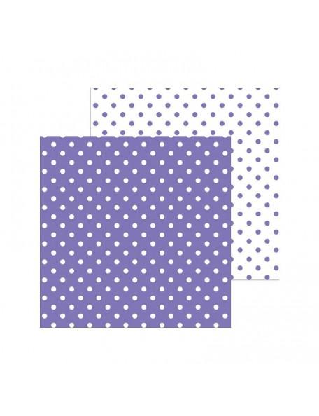 """Doodlebug Petite Swiss Dot Cardstock de doble cara 12""""X12"""", Lilac"""