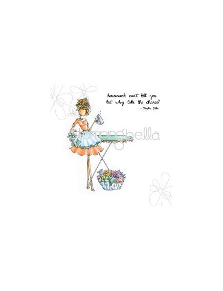 "Stamping Bella Cling Stamp 6.5""X4.5"", Uptown Girl Lily Loves Laundry"