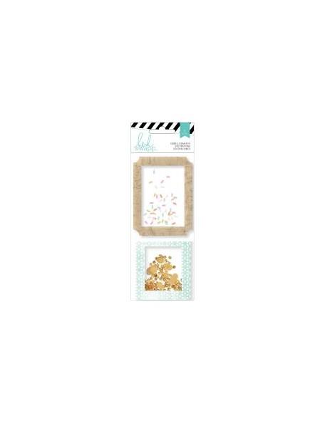 Heidi Swapp Wanderlust Shaker Boxes 2 Glitter & Sequins