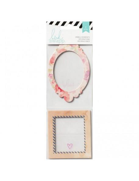 Heidi Swapp - Wanderlust Shaker Boxes 2, Glitter & Confetti