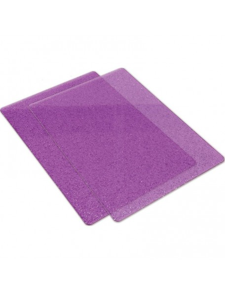 Sizzix Big Shot Cutting Pads 1 Pair-Purple W/Silver Glitter