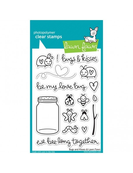 "Lawn Fawn Clear Stamps 4""X6"", Bugs & Kisses"
