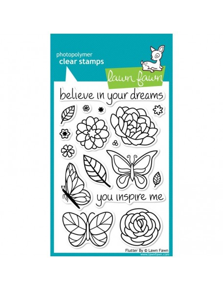 "Lawn Fawn Clear Stamps 4""X6"", Flutter By"