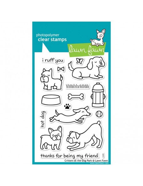"Lawn Fawn Clear Stamps 4""X6"", Critters At The Dog Park"
