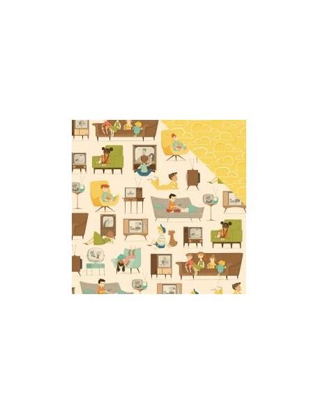 "October Afternoon - Saturday Mornings Cardstock de doble cara 12""X12"", Omolette"