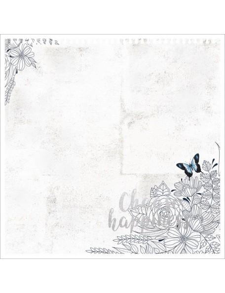 """Indigo Skies Foiled & Die-Cut Cardstock 12""""X12""""-Choose Happiness"""