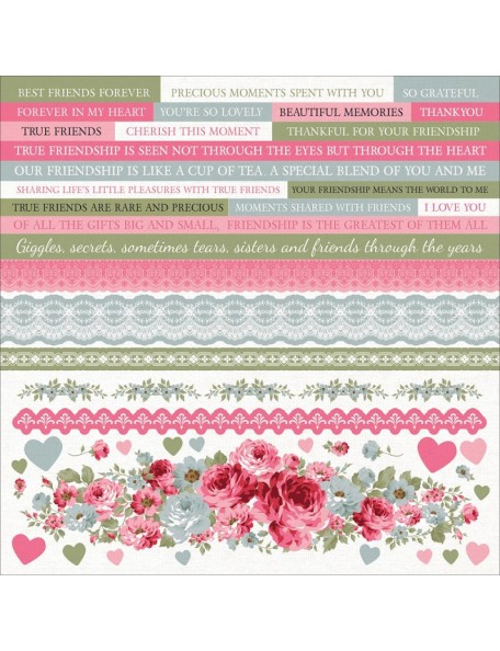 "Kaisercraft - High Tea Cardstock Stickers 12""X12"""