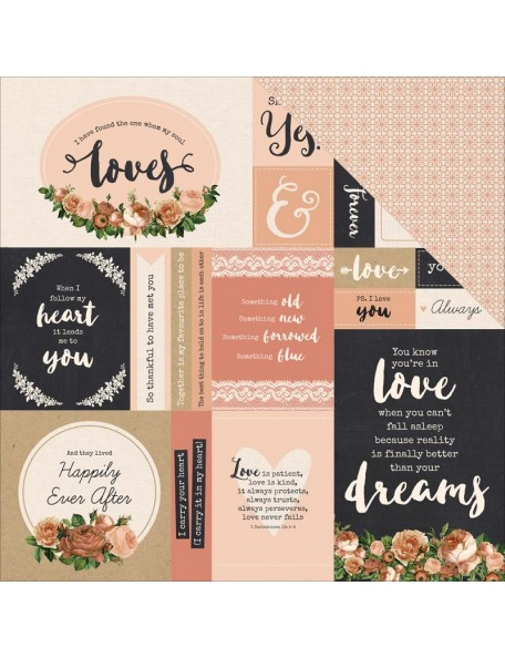 "Kaisercraft - Always & Forever Cardstock de doble cara 12""X12"", Endless Love"