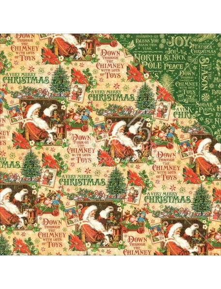 "Graphic 45 St Nicholas Cardstock de doble cara 12""X12"", Santas Workshop"