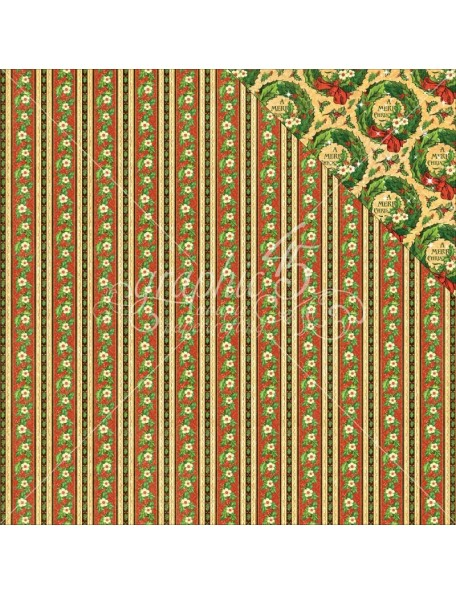 "Graphic 45 St Nicholas Cardstock de doble cara 12""X12"", North Pole"