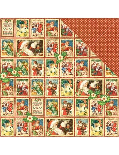 "Graphic 45 - St Nicholas Cardstock de doble cara 12""X12"", Christmas Cheer"