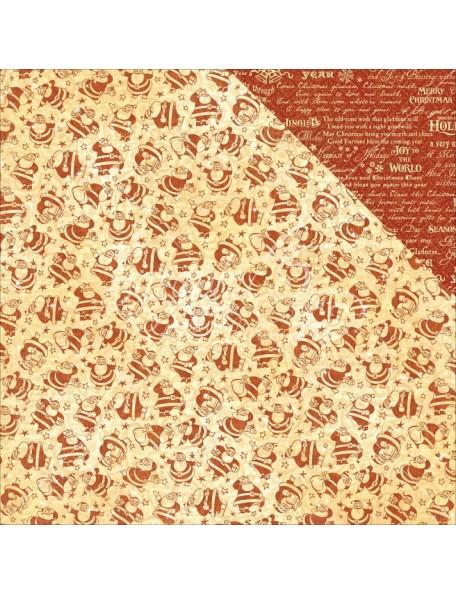 """Graphic 45 St Nicholas Cardstock de doble cara 12""""X12"""", Kris Kringle"""