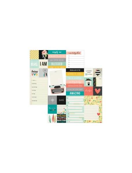 "Simple Stories - I Am Cardstock de doble cara 12""X12"", Elements 12""X12""-2""X2"" & 4""X6"""