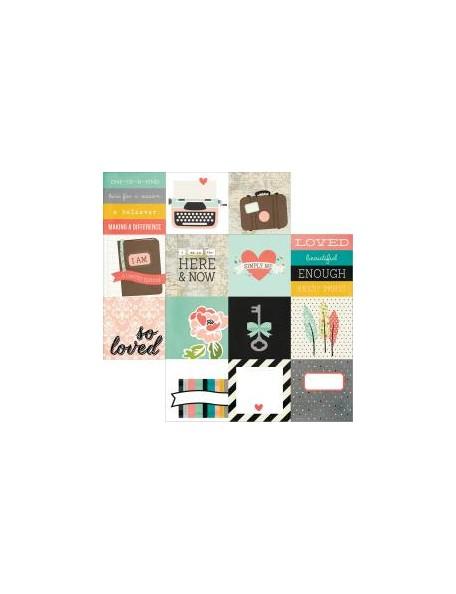"Simple Stories - I Am Cardstock de doble cara 12""X12"", Elements 4""X4"""