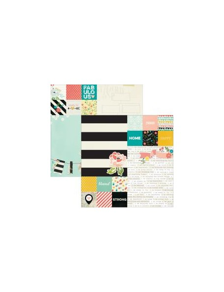 "Simple Stories - I Am Cardstock de doble cara 12""X12"", Elements 2""X2"" & 6""X8"""