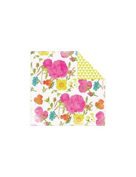 "Heidi Swapp - Favorite Things Cardstock de doble cara 12""X12"", In Bloom"