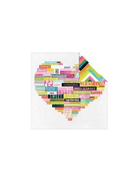 """Heidi Swapp - Favorite Things Cardstock de doble cara 12""""X12"""", Wordy"""