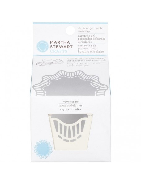 Martha Stewart Circle Border Cartridge, Wavy Stripe Descatalogado