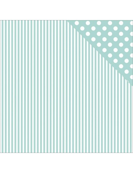 "Kaisercraft - Back To Basics Cardstock de doble cara 12""X12"", Seabreeze Stripe"