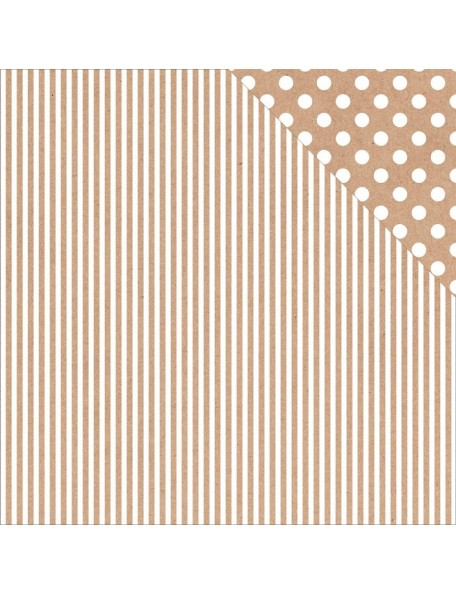 "Kaisercraft - Back To Basics Cardstock de doble cara 12""X12"", Kraft Strip"