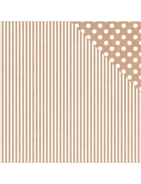 "Kraft Stripe Paper - ""Back to Basics"", Kaisercraft"