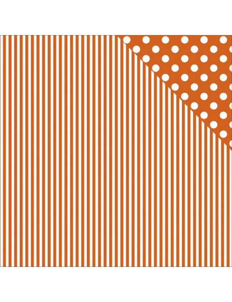 "Kaisercraft - Back To Basics Cardstock de doble cara 12""X12"", Orange Stripe"