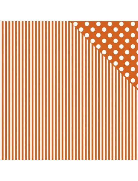 "Orange Stripe Paper - ""Back to Basics"", Kaisercraft"