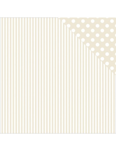 "Beige Stripe Paper - ""Back to Basics"", Kaisercraft"