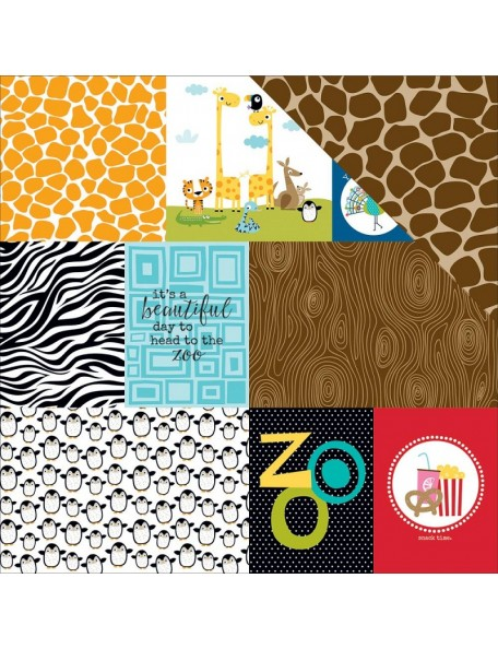 "Bella BLVD - The Zoo Crew Cardstock de doble cara 12""X12"", Daily Details"