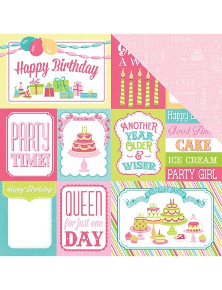 "Photo Play - Party Girl Cardstock de doble cara 12""X12"", 3x4, 4x6 Cards"