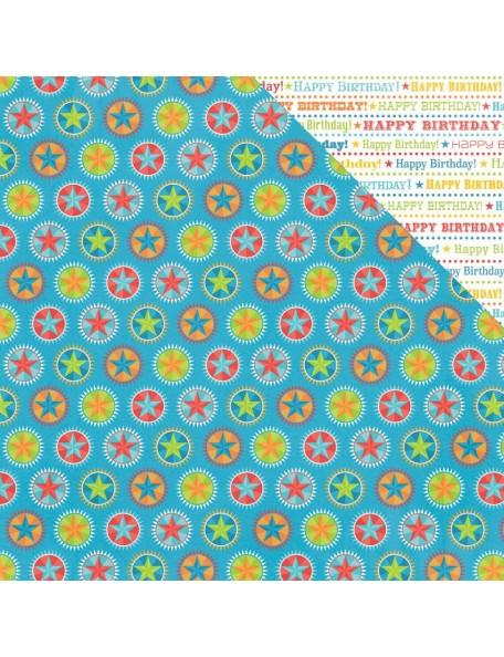 "Photo Play Party Boy Cardstock de doble cara 12""X12"", Birthday Words"