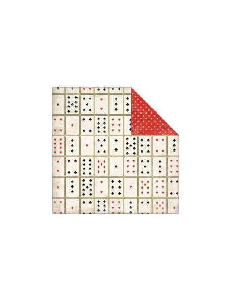 "Carta Bella - Well Played Cardstock de doble cara 12""X12"", Card Games"