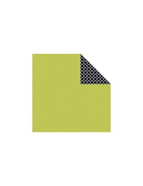 "Bella BLVD - Color Chaos Cardstock de doble cara 12""X12"", Pickle Juice Strandz"