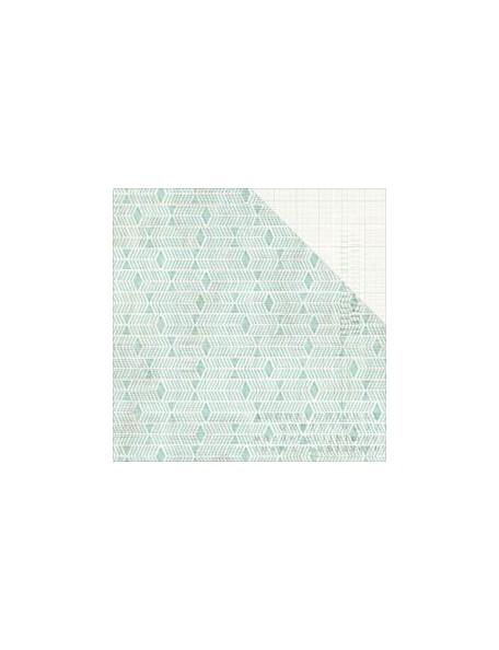"Pink Paislee Memorandum Cardstock de doble cara 12""X12"", Punch Card"