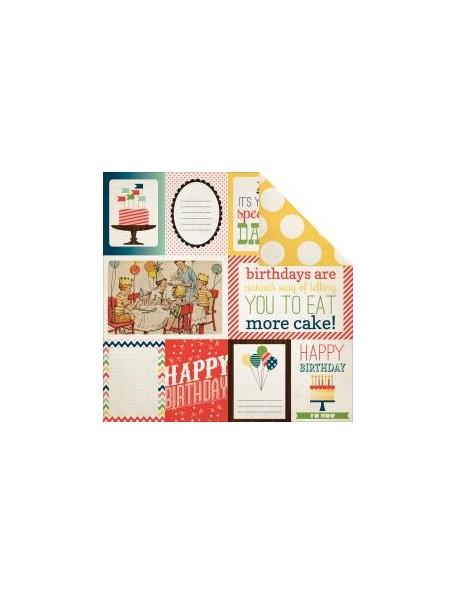"Carta Bella It's A Celebration Cardstock de doble cara 12""X12"", Journaling Cards"