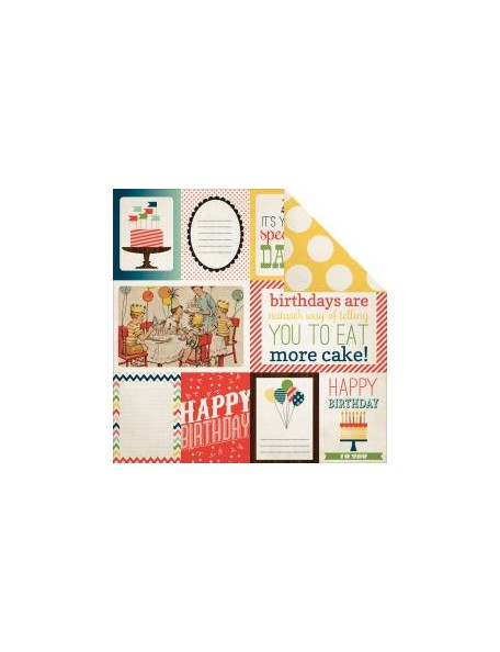"Carta Bella - It's A Celebration Cardstock de doble cara 12""X12"", Journaling Cards"