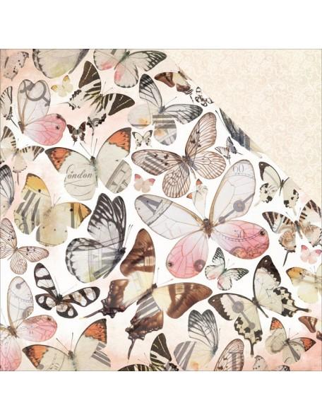"Kaisercraft - Mademoiselle Cardstock de doble cara 12""X12"", Flutter"