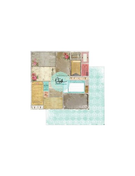 "Marion Smith Garment District Cardstock de doble cara 12""X12"", Remnants"