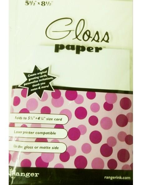 "Ranger Gloss Paper 5 1/2"" x 8 1/2"""
