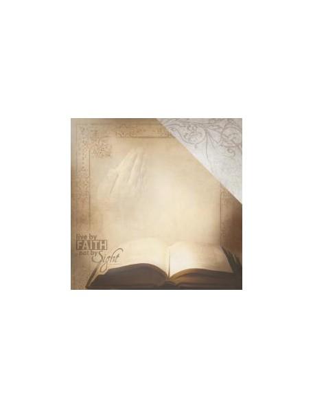 """Paper House - Faith Cardstock de doble cara 12""""X12"""", Holy Bible"""