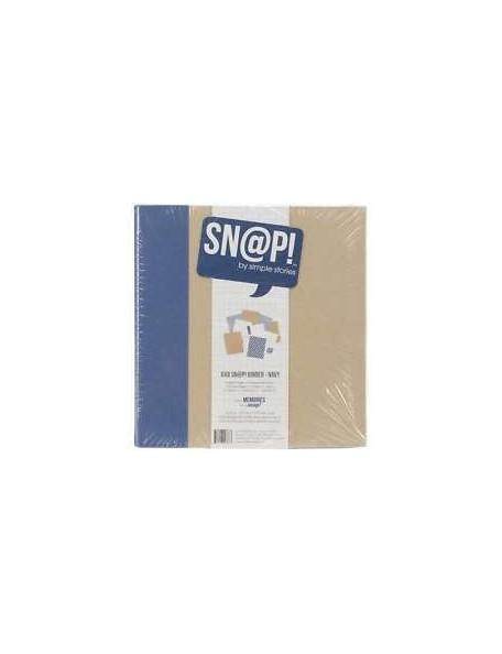 """Sn@p 6""""x8"""" Navy"""