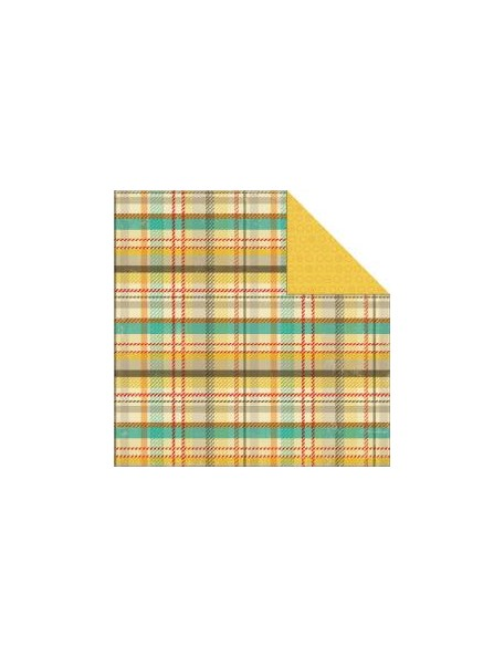 "My Minds Eye - Boy Crazy Cardstock de doble cara 12""X12"", Plaid"