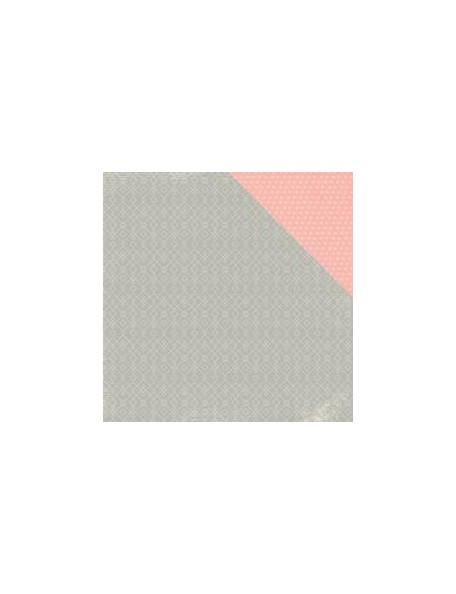 """Pink Paislee - Cedar Lane Cardstock de doble cara 12""""X12"""", Main Street"""