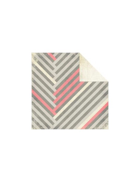 "Glitz - Love You Madly Cardstock de doble carar12""X12"", Stripe"