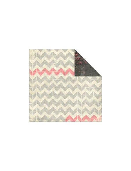 "Glitz - Love You Madly Cardstock de doble carar12""X12"", Herringbone"
